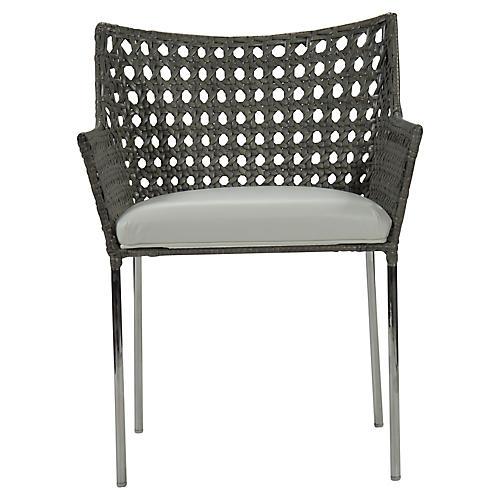 Ibiza Armchair, Steel Gray