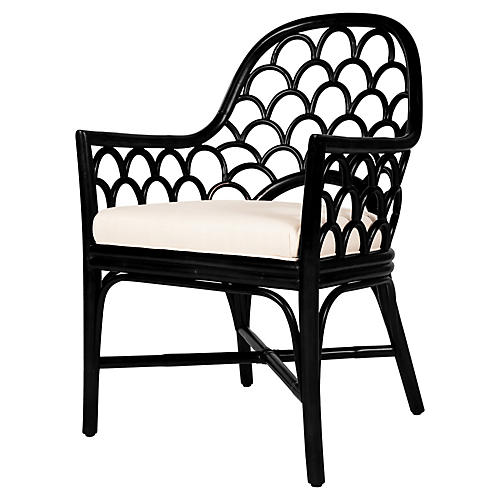 Koi Armchair, Black