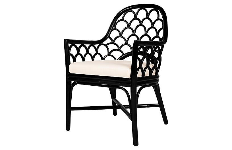 Koi Armchair, Black