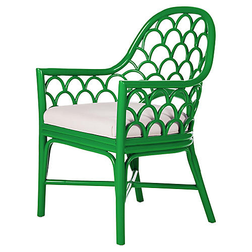 Koi Armchair, Bright Green