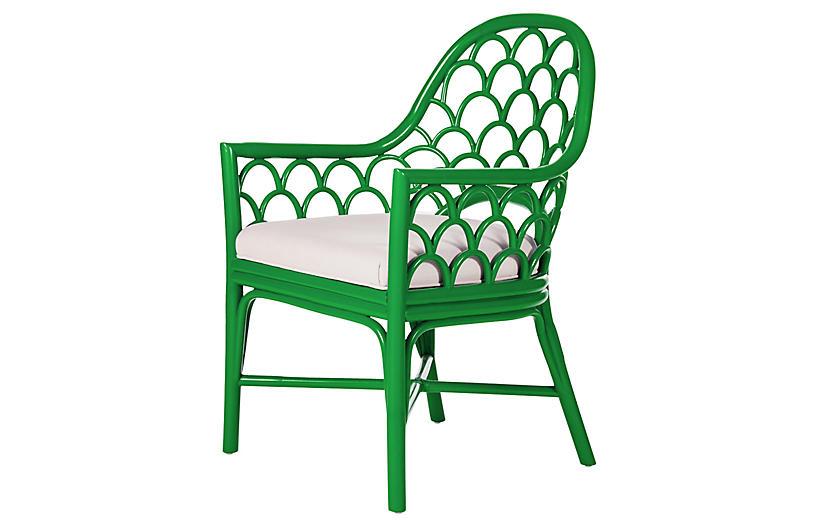 Koi Armchair, Bright Green