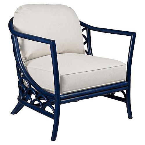 Koi Accent Chair, Navy