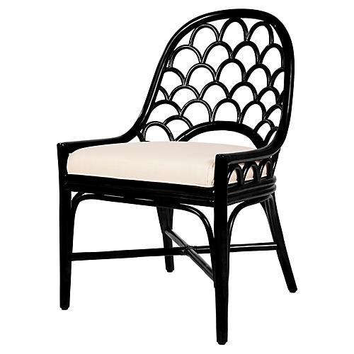 Koi Side Chair, Black