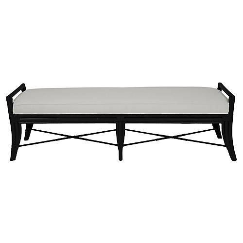 Malacca Long Bench, Black