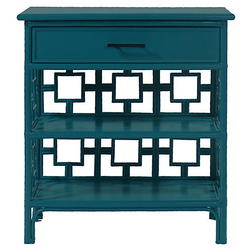 Sobe Nightstand, Pacific Blue