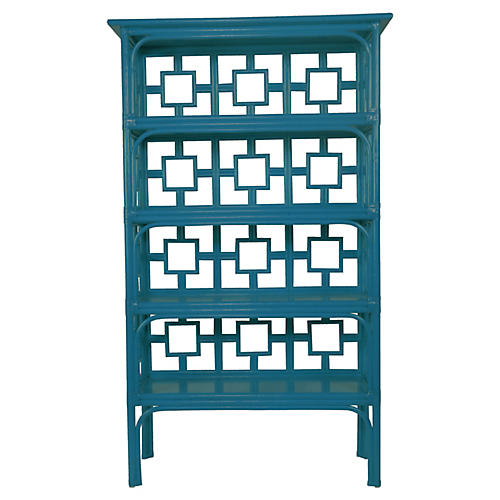 Sobe Bookcase, Pacific Blue