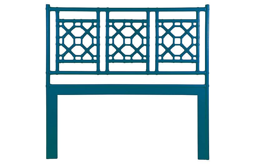 Lattice Headboard - Pacific Blue - David Francis Furniture