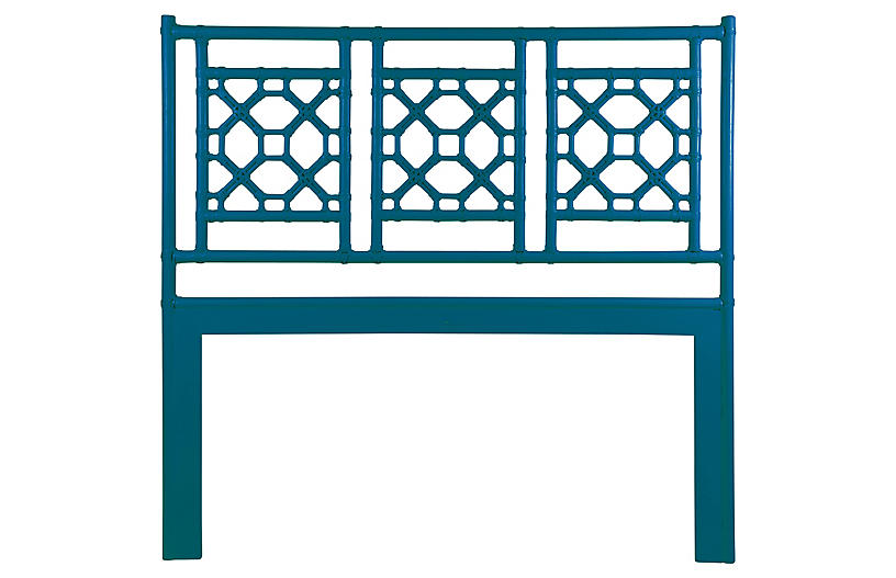 Lattice Headboard - Pacific Blue - David Francis Furniture