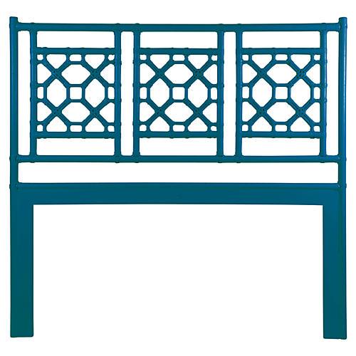 Lattice Headboard, Pacific Blue