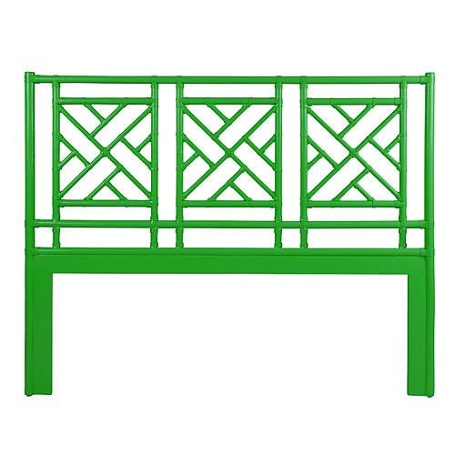 Chippendale Headboard, Bright Green