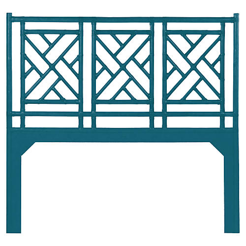 Chippendale Headboard, Pacific Blue