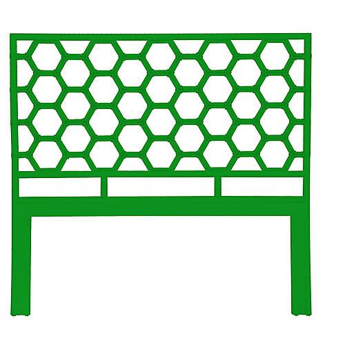 Honeycomb Headboard, Bright Green