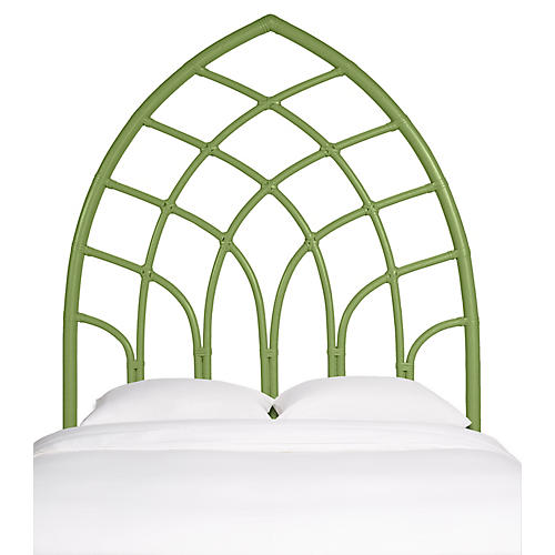 Cathedral Headboard, Celery
