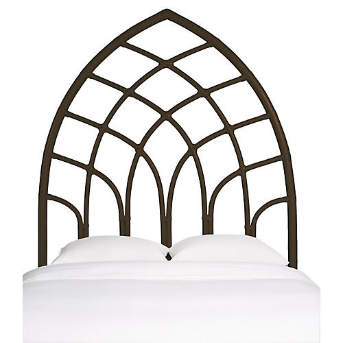Cathedral Kids' Headboard, Coffee Brown