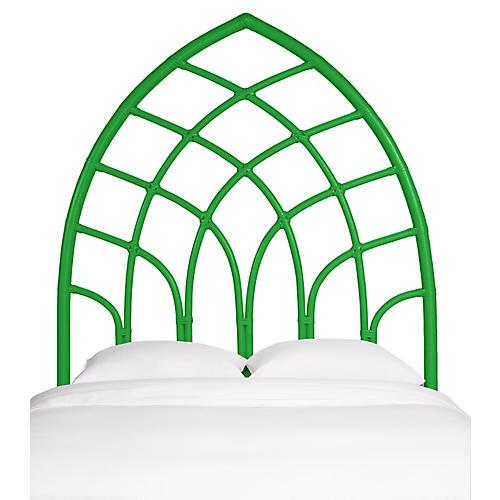 Cathedral Headboard, Green