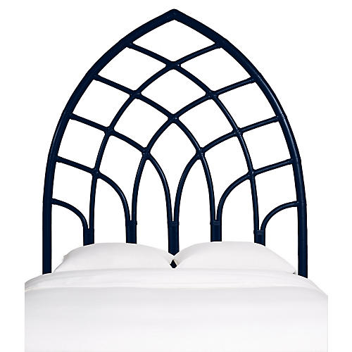 Cathedral Headboard, Navy Blue
