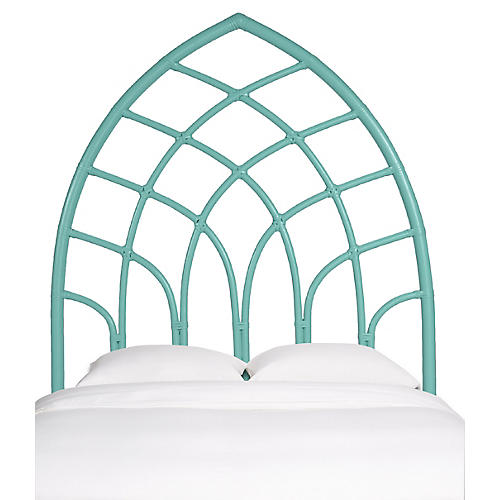 Cathedral Headboard, Turquoise