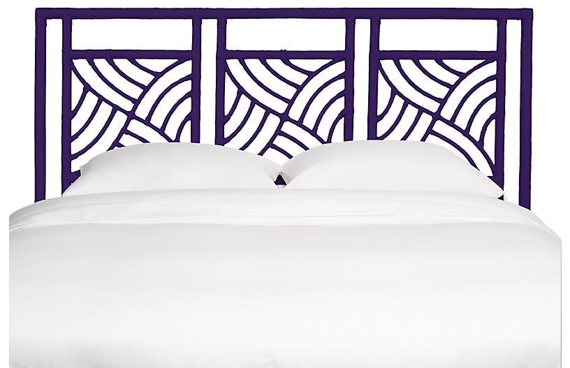 Whirlwind Headboard - Perfect Purple - David Francis Furniture - King