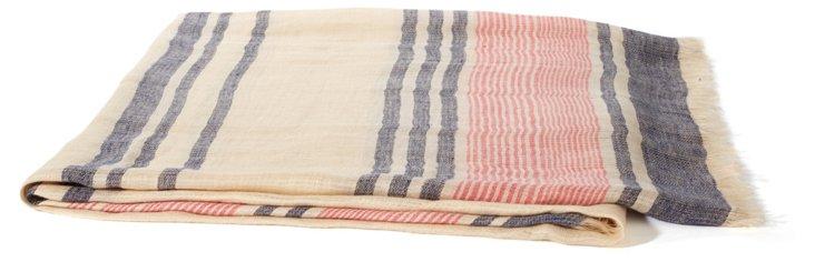 Sabrina Linen Throw, Multi Stripe