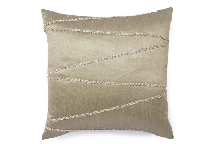 Lines 18x18 Pillow, Sage