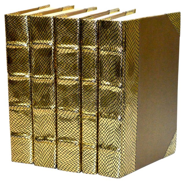S/5 Metallic Collection Books, Gold