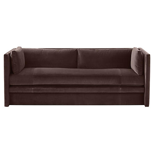 Meyer Sofa, Dark Bronze Velvet
