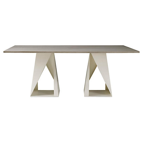 Fold Dining Table, Whitewash