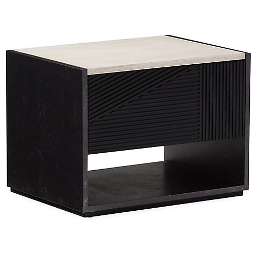 Hampden Nightstand, Black