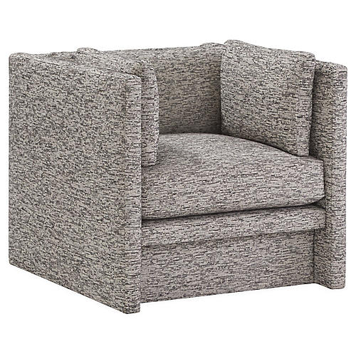 Meyer Club Chair, Light Gray