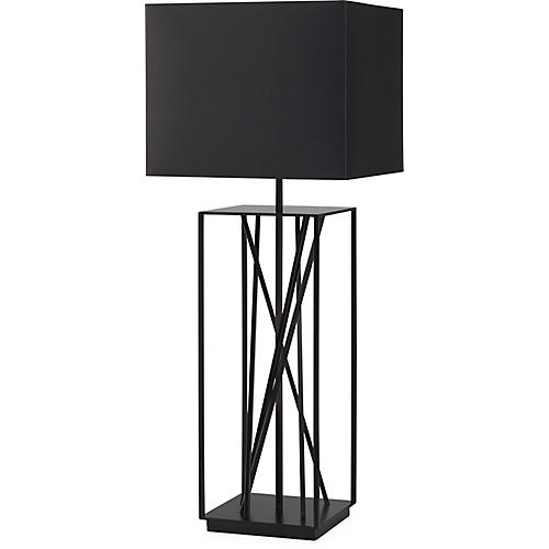 Webb Buffet Table Lamp, Black