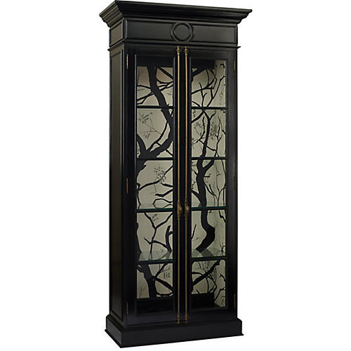Glover Branch Display Cabinet, Black