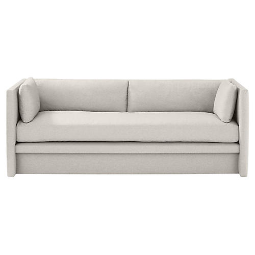 Meyer Sofa, Gray Velvet