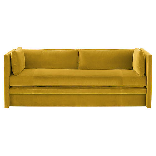 Meyer Sofa, Citrine Velvet
