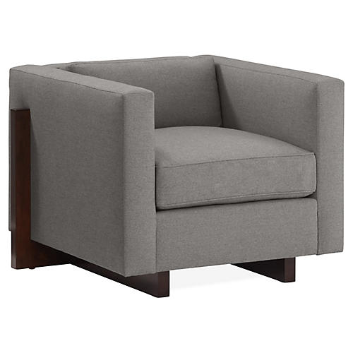 Porter Club Chair, Slate