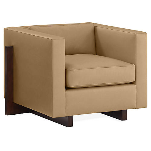 Porter Club Chair, Beige
