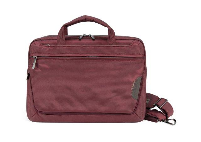 "13"" Expanded Laptop Messenger,  Dark Red"