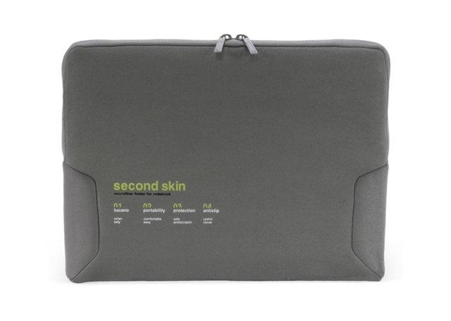 "13"" Microfiber Notebook Sleeve, Gray"