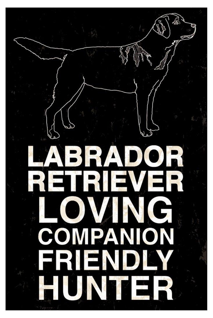 Labrador Retriever, Black, 20x30