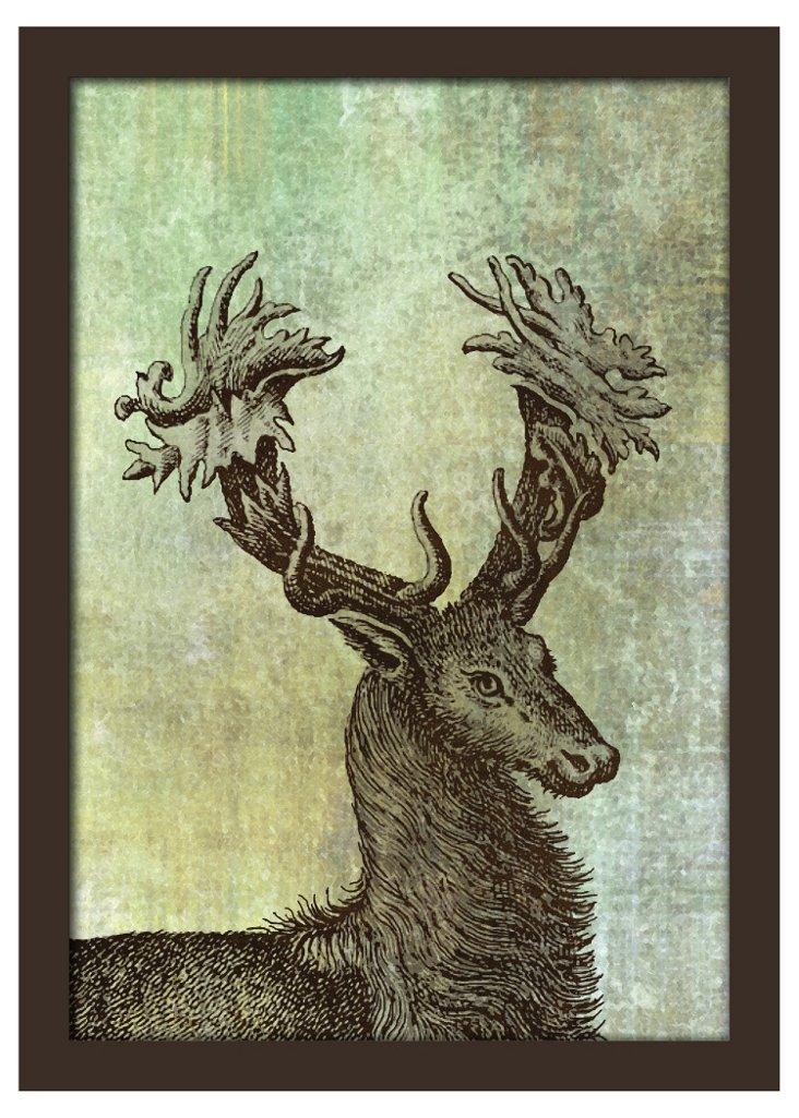 Deer Etching II