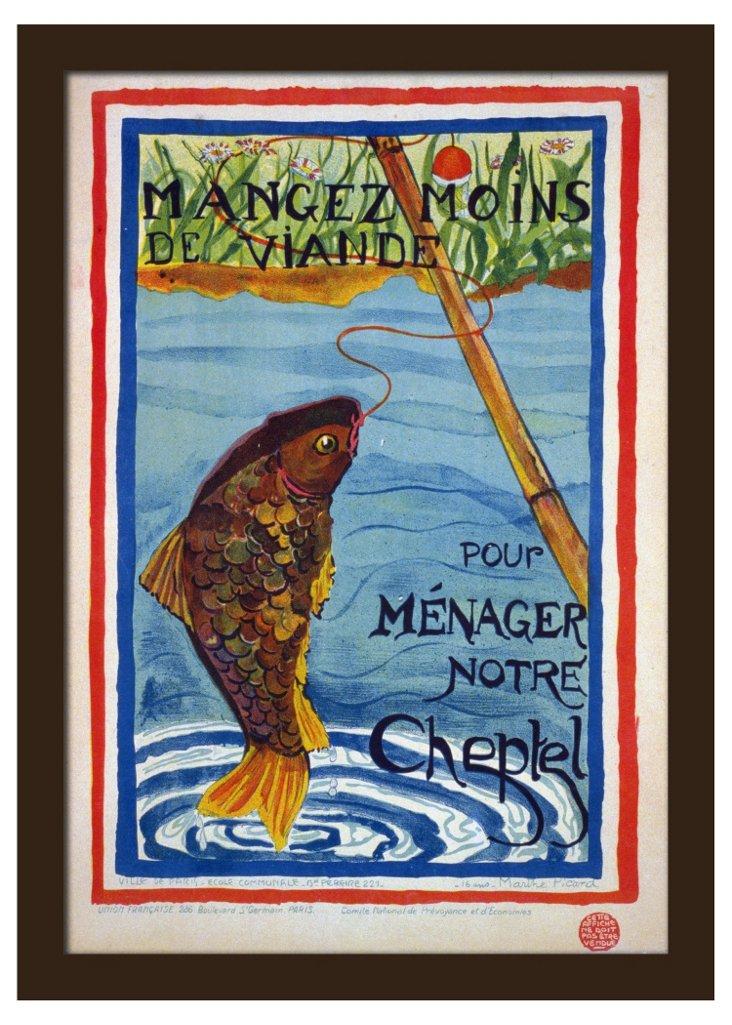 Parisian Fish Poster