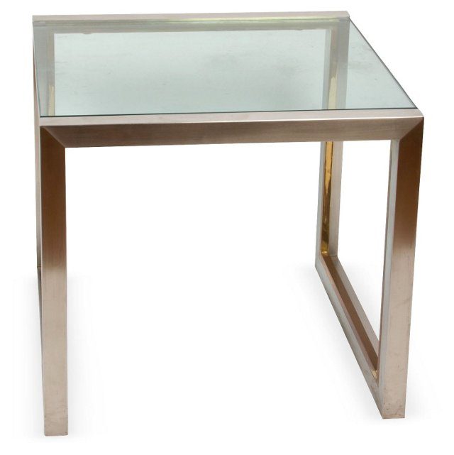 Contemporary Steel Side Table