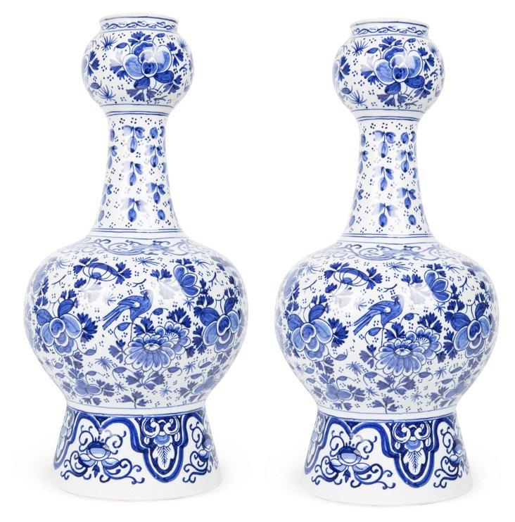 Delft Vases, Pair I