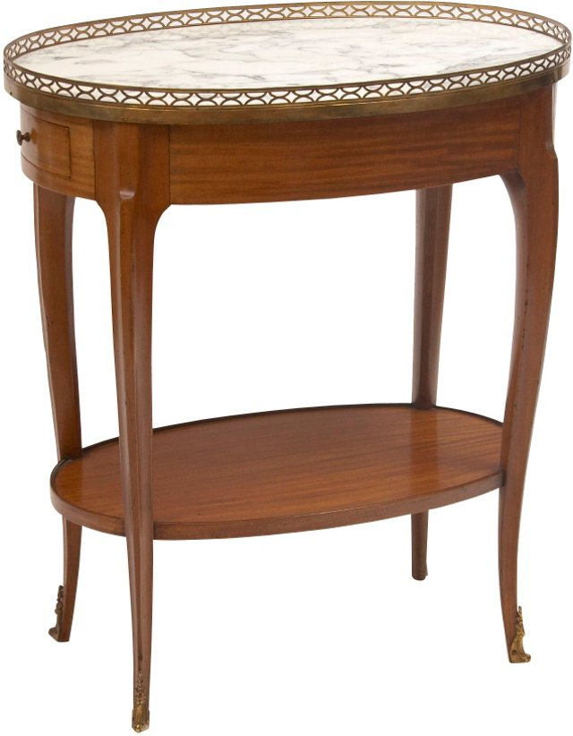 Oval French Transitional Table