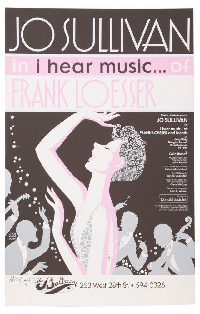 I Hear Music of Frank Loesser Placard I