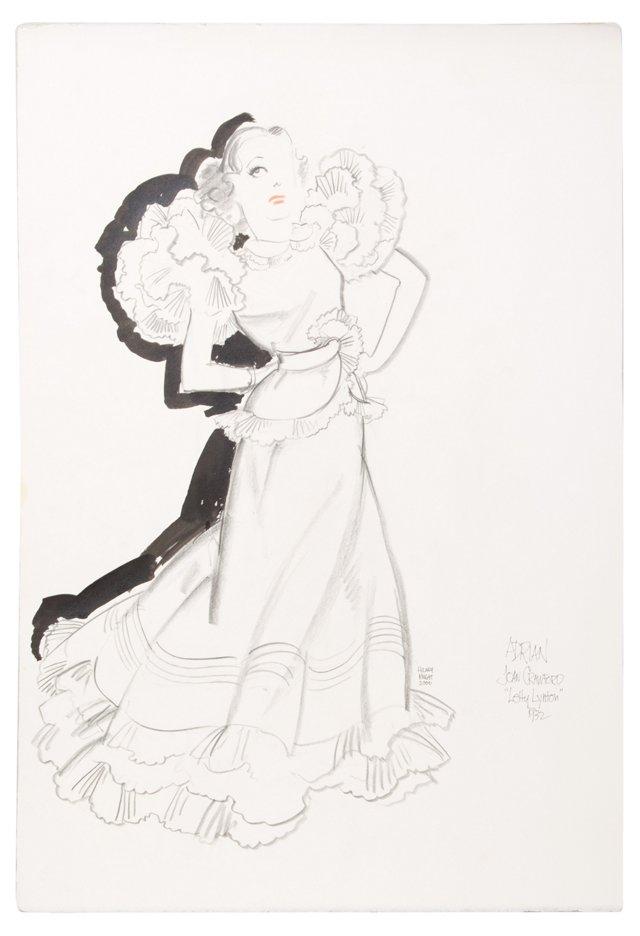 Joan Crawford & Letty Lytton Drawing