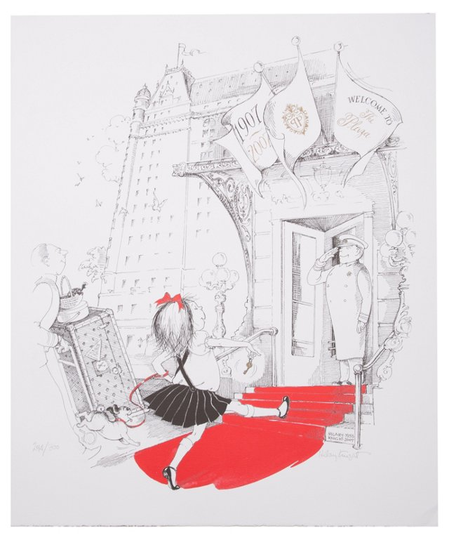 Eloise Returns to Plaza Lithograph I