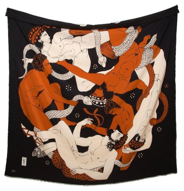 Silk Yves Saint-Laurent Scarf