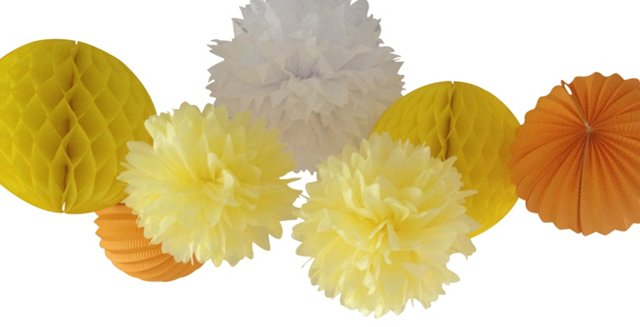 "Set of ""You Are My Sunshine"" Poms"