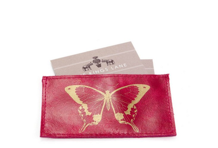 Butterfly Credit Card Case, Fuchsia