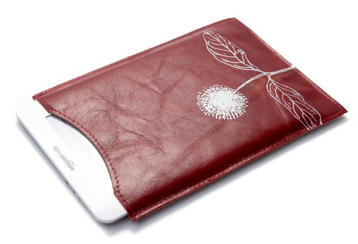 Dandelion Kindle Sleeve, Ruby